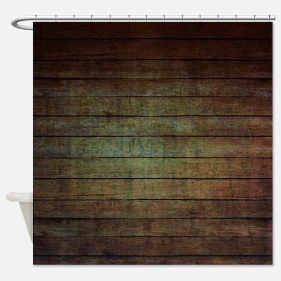 modern woodgrain country decor Shower Curtain
