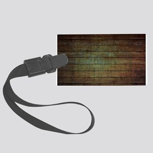 modern woodgrain country decor Large Luggage Tag