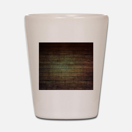 modern woodgrain country decor Shot Glass
