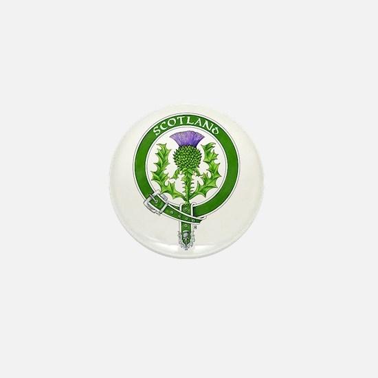 Scotland Thistle Badge Mini Button