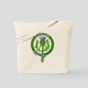 Scotland Thistle Badge Tote Bag