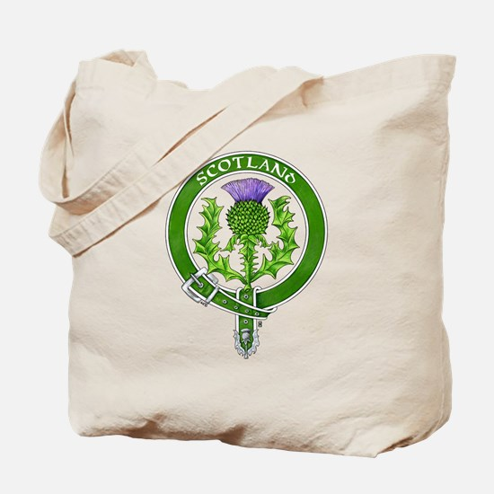 Scotland Thistle Badge Tote Bag