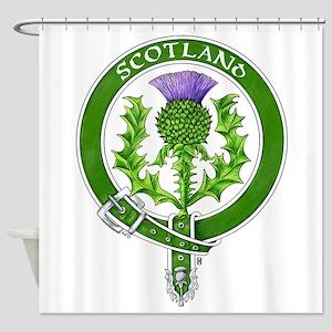 Scotland Thistle Badge Shower Curtain