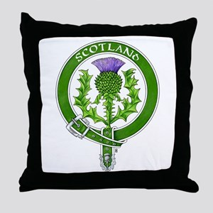 Scotland Thistle Badge Throw Pillow