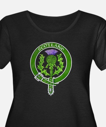 Scotland Thistle Badge Plus Size T-Shirt