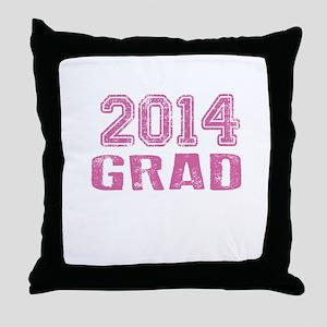 2014 Grad Throw Pillow