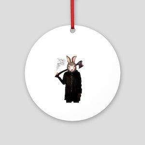 Evil Rabbit Round Ornament