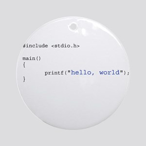 Hello, World Ornament (Round)