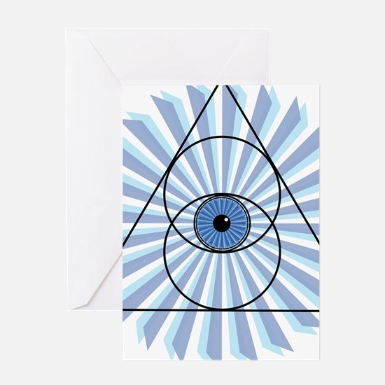 New 3rd Eye Shirt2 Greeting Cards