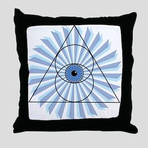 New 3rd Eye Shirt2 Throw Pillow