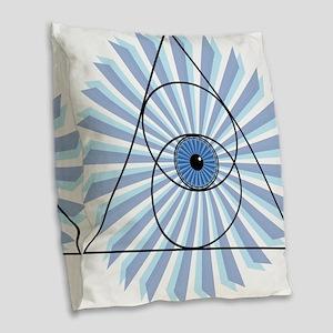 New 3rd Eye Shirt2 Burlap Throw Pillow