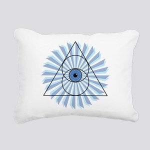 New 3rd Eye Shirt2 Rectangular Canvas Pillow