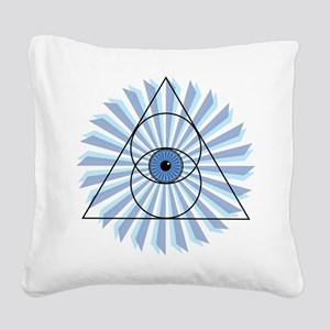 New 3rd Eye Shirt2 Square Canvas Pillow