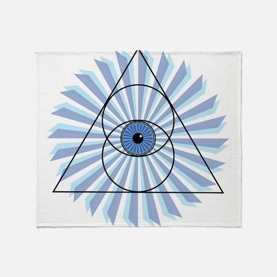 New 3rd Eye Shirt2 Throw Blanket