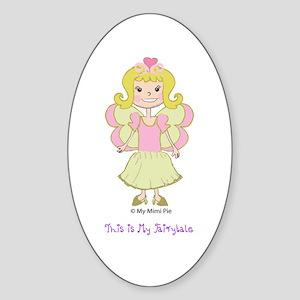 Fairy Princess Sophie Oval Sticker