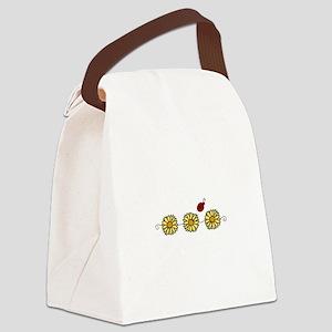 Flower Ladybug Canvas Lunch Bag