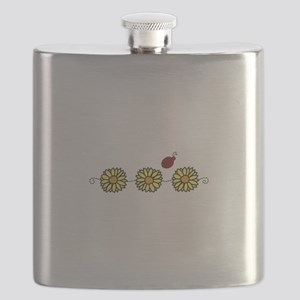 Flower Ladybug Flask