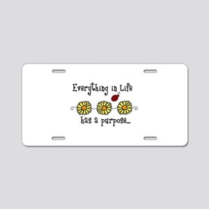 Everything In Life Aluminum License Plate