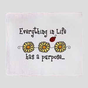 Everything In Life Throw Blanket