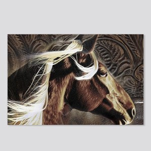 modern horse brown leather texture Postcards (Pack