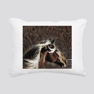 modern horse brown leather texture Rectangular Can