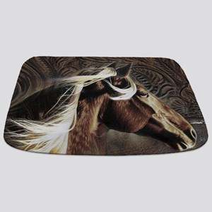 modern horse brown leather texture Bathmat