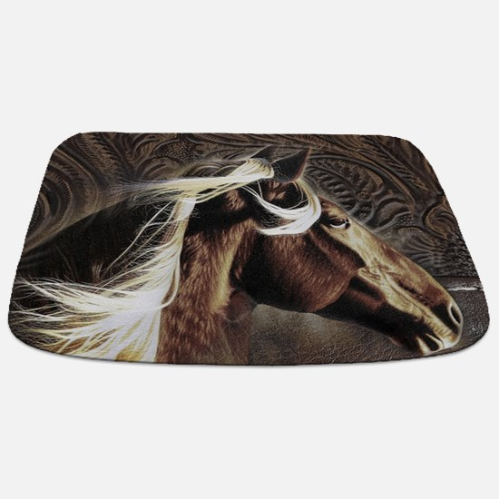 modern horse brown leather texture Bathmat