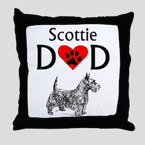 Scottie Dad Throw Pillow