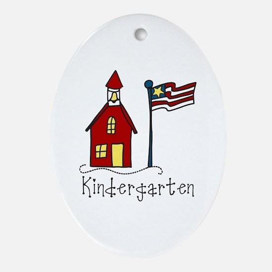 Kindergarten Ornament (Oval)