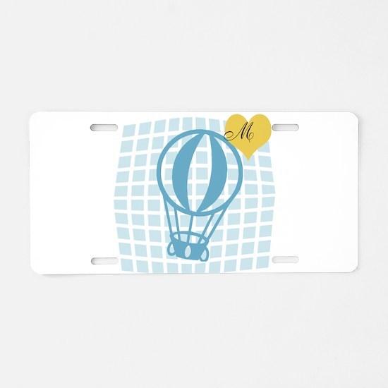 Travel Vacation Monogram Aluminum License Plate
