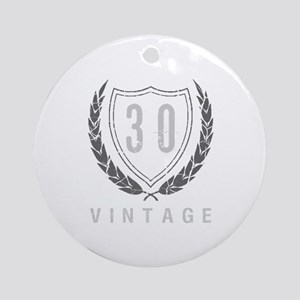 30th Birthday Laurels Ornament (Round)