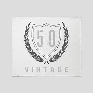 50th Birthday Laurels Throw Blanket