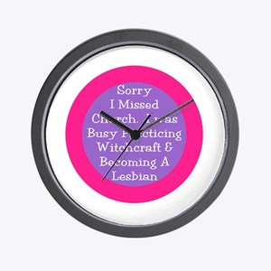 Sorry I missed church... Wall Clock