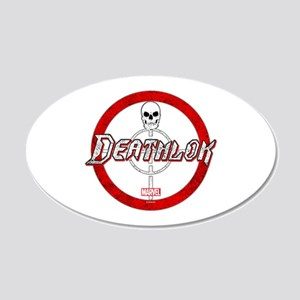 Deathlok Crosshair 20x12 Oval Wall Decal
