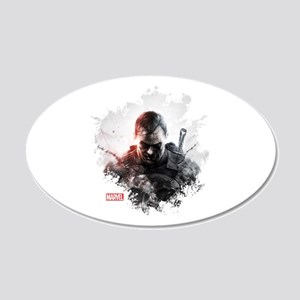 The Punisher Brush 20x12 Oval Wall Decal