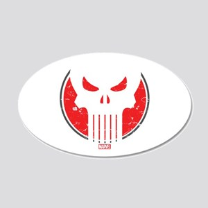 Punisher Icon 20x12 Oval Wall Decal