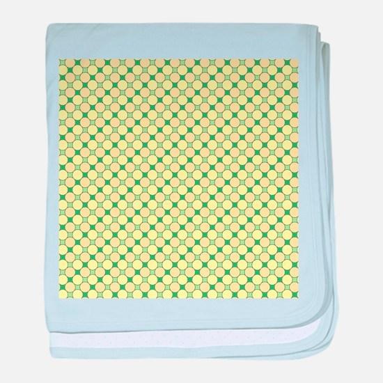 1966s dots green baby blanket