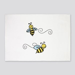Bees 5'x7'Area Rug