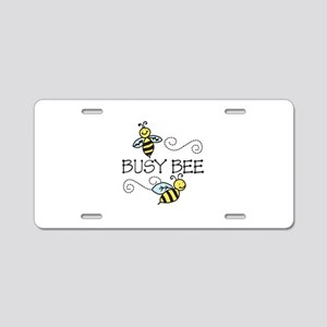 Busy Bees Aluminum License Plate