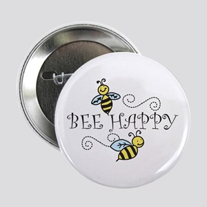 "Bee Happy 2.25"" Button"