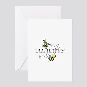 Bee Happy Greeting Cards