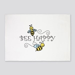 Bee Happy 5'x7'Area Rug