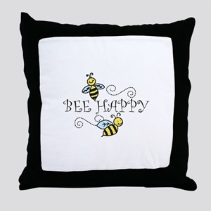 Bee Happy Throw Pillow