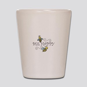 Bee Happy Shot Glass
