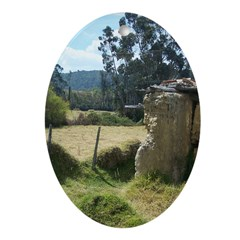 Crumbling Countryside Ornament (Oval)