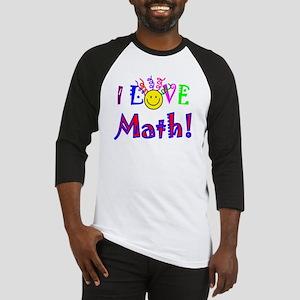 I Love Math! Baseball Jersey