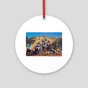 Motocross Madness Round Ornament