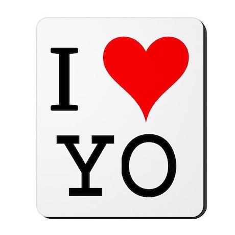I Love YO Mousepad