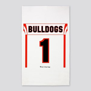 Bulldog Jersey 3'x5' Area Rug