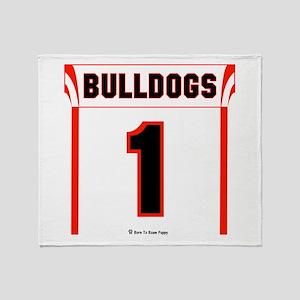 Bulldog Jersey Throw Blanket